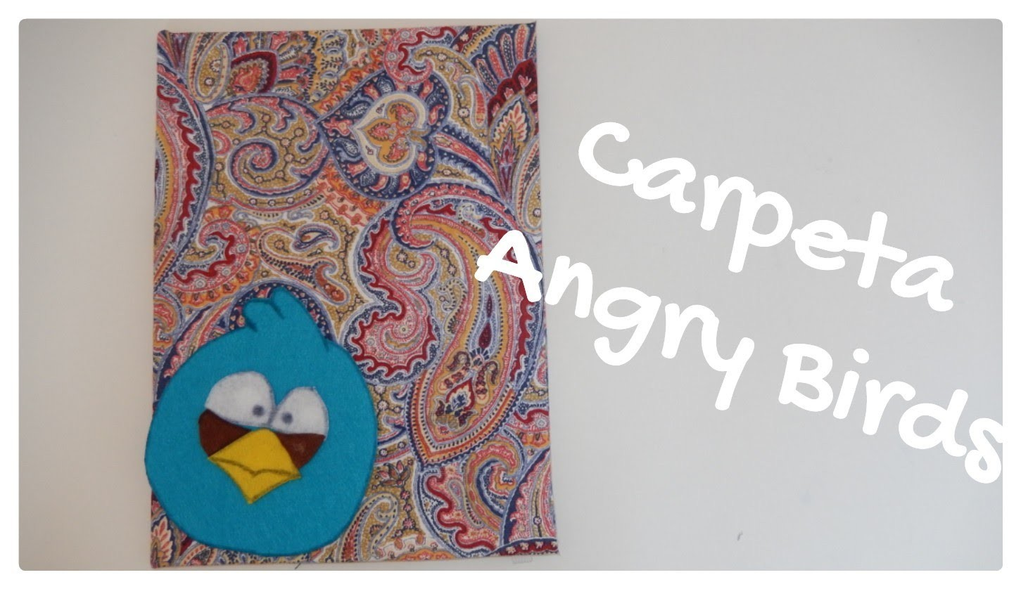 DIY Carpeta de carton (Angry Birds) decoandcrafs | Candermich
