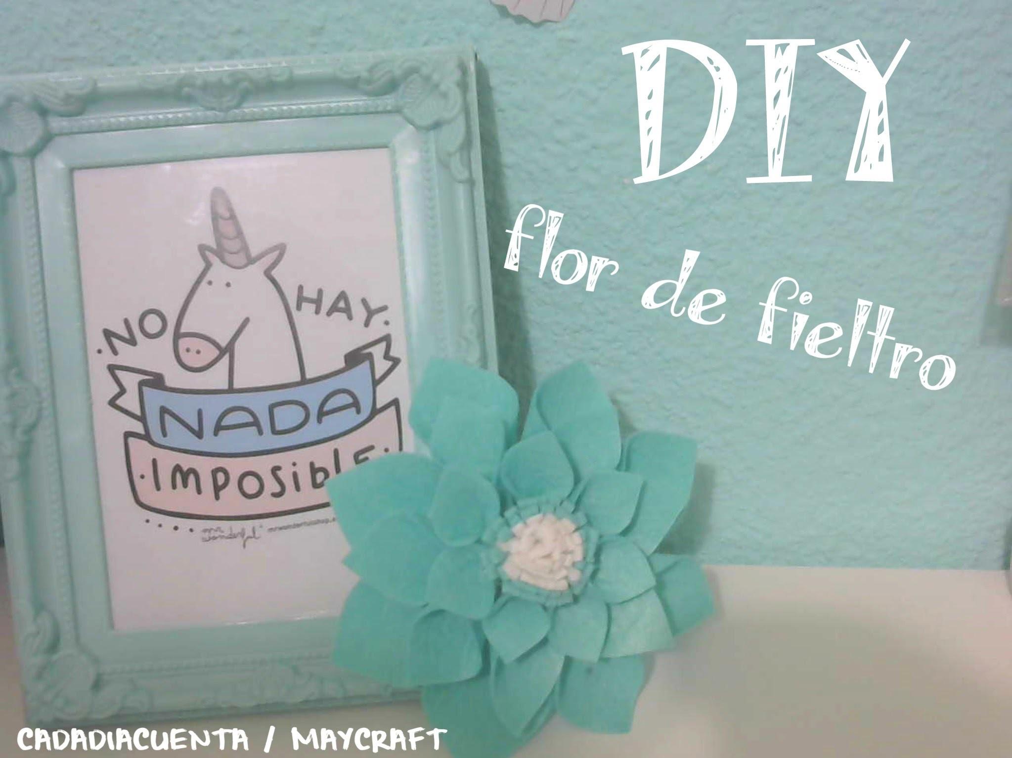 DIY Flor con fieltro paso a paso