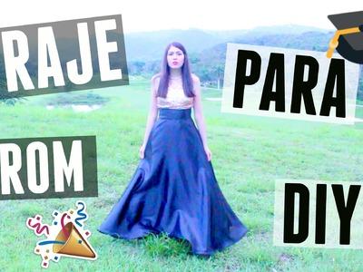 """DIY ¡Vestido de fiesta para """"prom"""".graduación! (en menos de $16)"""