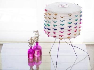 DIY lámpara con nudos de trapillo