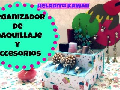 DIY-Organizador -FORMA DE HELADO. KAWAII