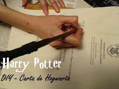 Tutorial - Carta de Hogwarts | DIY - Hogwarts letter