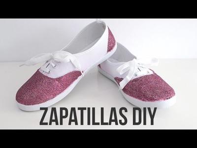 Zapatillas DIY con purpurina