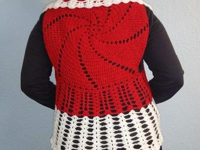 Bolero circular con espiral a Crochet parte 2