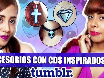 DIY ACCESORIOS CON CDS INSPIRADOS EN TUMBLR ❤     Hey You TV!
