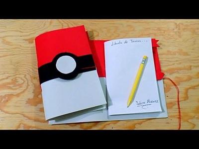 DIY Haz tu propia Libreta.Agenda de Pokebola PIKACHU -Pokemon Go Manualidades  (Encuadernado Basico)