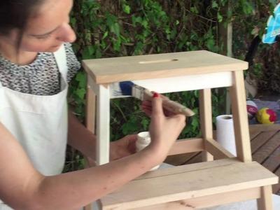 DIY: Transforma Tu Taburete De Ikea Con Papeles Delipapel Y Chalk Paint