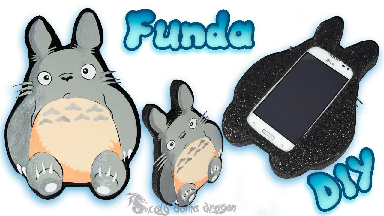 Funda para movil de Totoro en Foamy o Goma Eva Diy   Craft