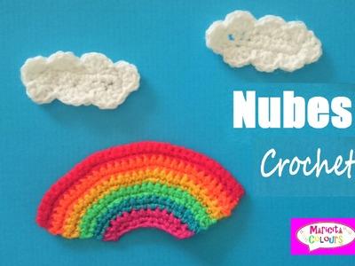 Nubes Aplicación a Crochet Tutorial por Maricita Colours