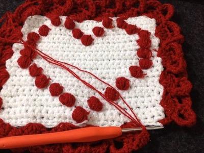 Orilla de corazones crochet muy facil