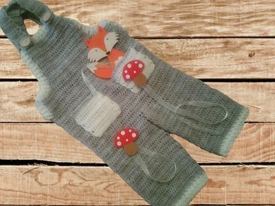 Pantalón peto o jardinero bebe a crochet parte 1 #tutorial #diy #paso a paso