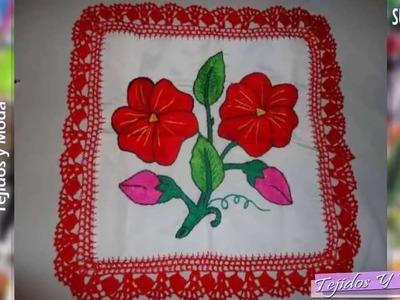 Puntillas Tejidas en Crochet Diseño