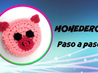 Tutorial monedero a crochet cerdito