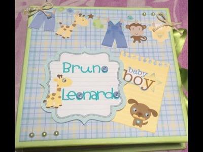 Baby boy Mini album (scrapbook)