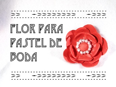Como hacer flores para pasteles de bodas | How to make a wedding flower cake | fondant