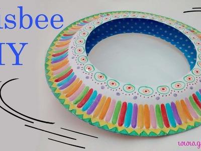 Cómo hacer un frisbee o plato volador súper fácil. How to make a easy frisbee.