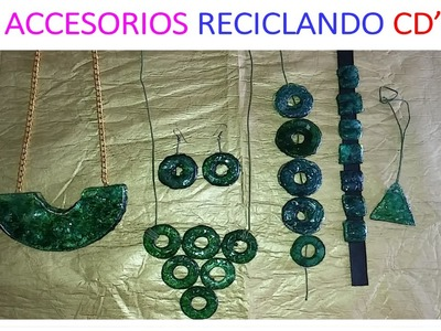 DIY: ACCESORIOS RECICLANDO CDS. NECKLACE WITH RECYCLE CDS