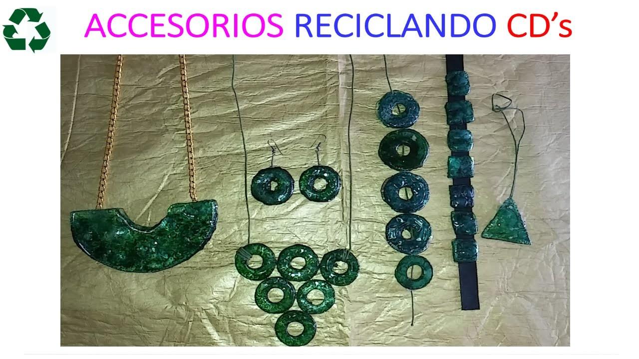 DIY: ACCESORIOS RECICLANDO CDS. NECKLACE WITH RECYCLE CDS