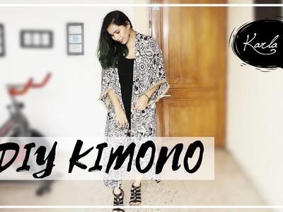DIY: Cómo hacer un Kimono muy fácil. How to make a Cardigan Kimono | #FemLife :)