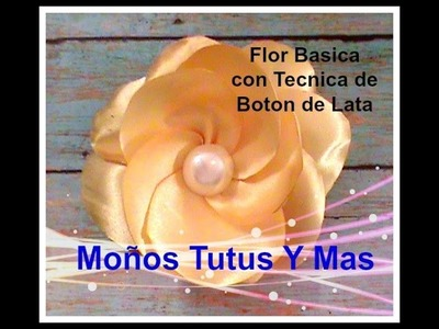 FLOR CON TECNICA DEL BOTON DE LATA Paso a Paso HOW TO MAKE FLOWERS WITH BUTTON Tutorial
