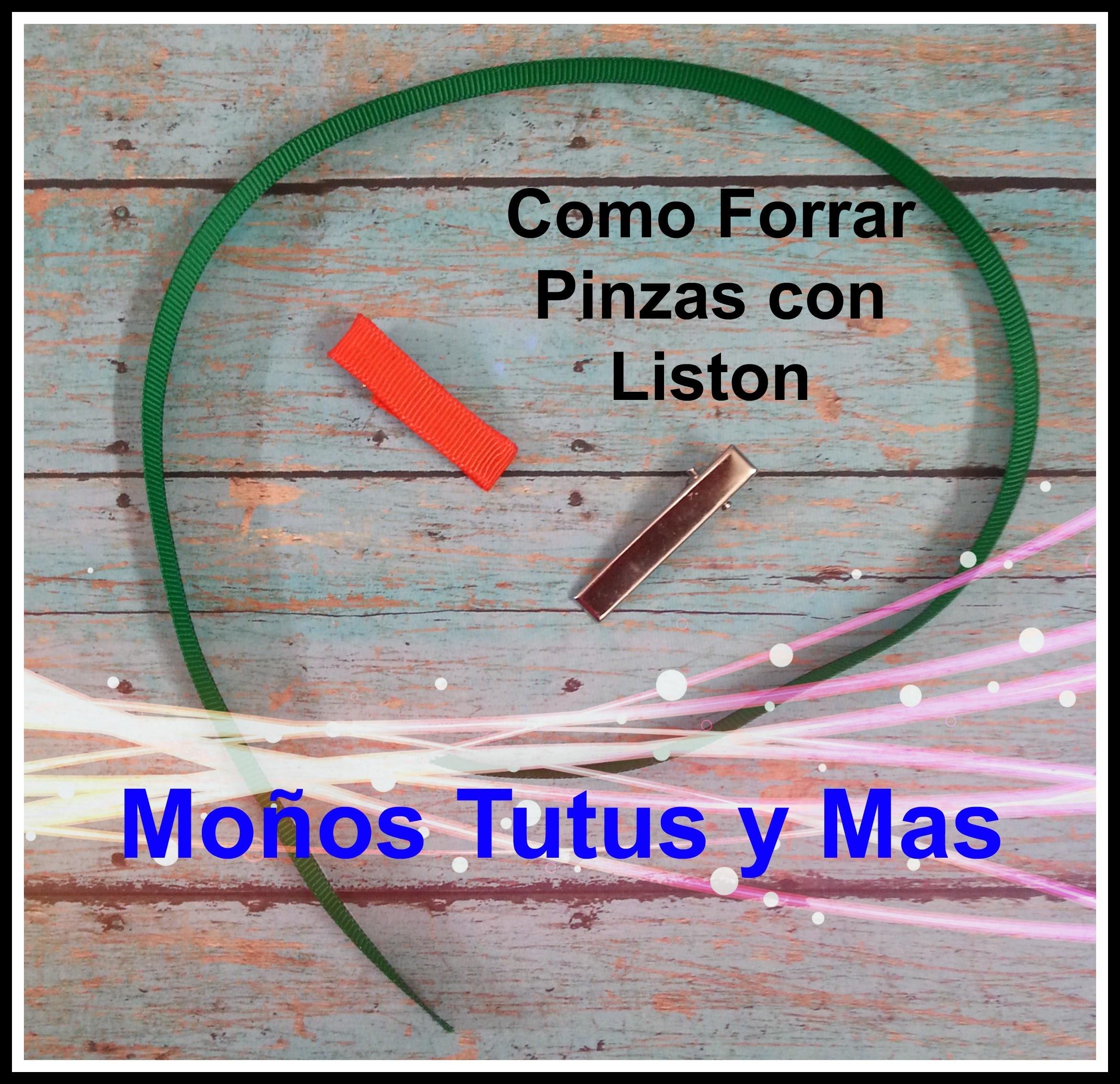 FORRADO DE PINZA DE CABELLO Paso a Paso HOW TO LINE ALLIGATOR CLIPS Tutorial DIY PAP