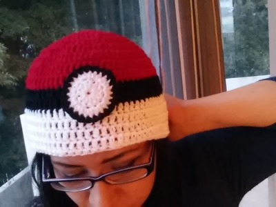 Gorro pokemon (pokebola) a crochet paso a paso