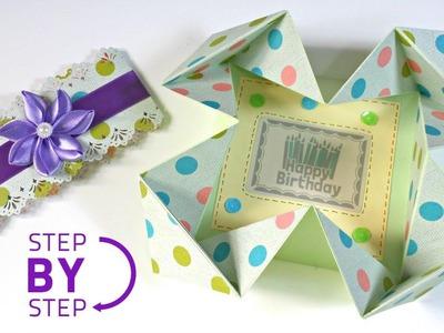TUTORIAL: Cómo hacer una tarjeta muy original usando origami | How to a Napkin card