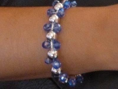 Como hacer una pulsera con cadena de bolas y cristal DIY