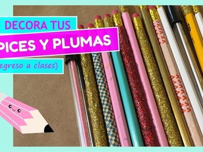 DIY Decora tus lápices y plumas de una forma súper fácil!!! - Regreso a clases :D