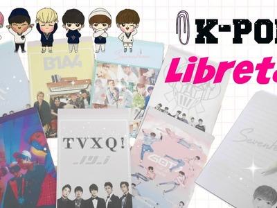 DIY K-POP : Crea tus propias libretas [TVXQ.SHINEE.SEVENTEEN.B1A4.VIXX.MONSTA X.GOT7]