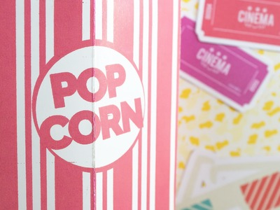 Pop Corn Card Pop-Up. Jeguridos DIY