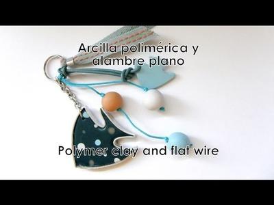 Arcilla polimérica y alambre plano - Polymer clay and flat wire