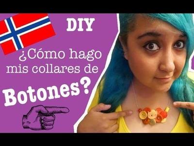 ¿Cómo hago mis collares de botones? - DIY Koselig - Mexicana en Noruega ♥ Vlog 39 [Pame Koselig]