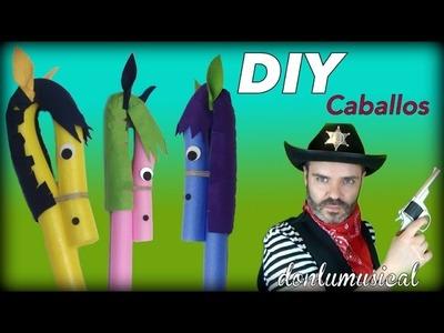 DIY Caballo vaquero oeste disfraz con churro de piscina
