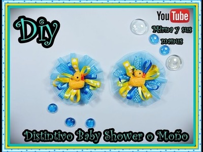Diy  Distintivo Baby Shower o Moño  Mirna y sus manus. Baby Shower Souvenirs Diy