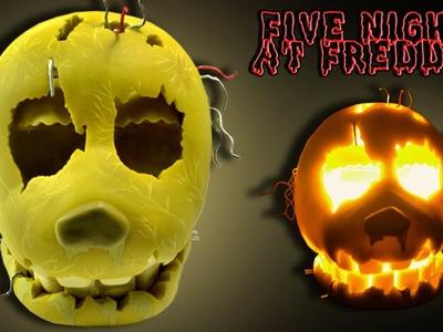 """FNaF 3 ★ SPRINGTRAP Bad Ending Mask Lamp """"Tutorial"""" - Polymer clay ★ Porcelana fria ★ Plastilina"""
