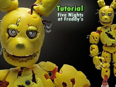 """SPRINGTRAP ★ FNaF 3 ★ """"Tutorial"""" - Polymer clay ★ Porcelana fria. Cold Porcelain ★ (REUPLOAD))"""