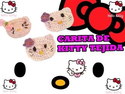 Como hacer una carita de hello kitty tejida crochet