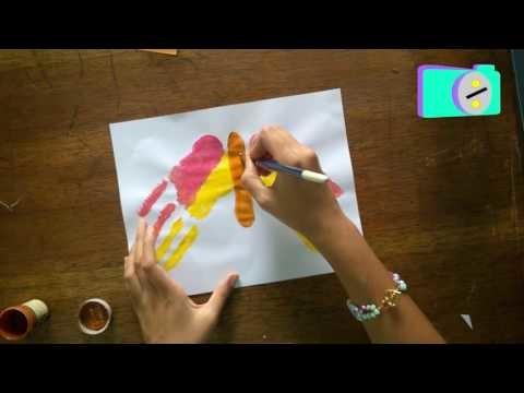 Dactilopintura Mariposa (Manualidades para Niños)