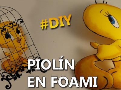 DIY | COMO HACER A PIOLIN EN FOAMI | Manualidades de piolin