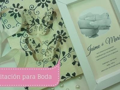 Manualidades: Cómo hacer INVITACIÓN para BODA Fácil paso a paso DIY ♥ Sor Amparo Arredondo R.