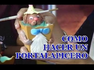 MANUALIDADES NIÑOS - COMO HACER UN PORTALAPICEROS CON CERAMICA AL FRIO