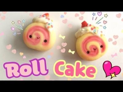 Roll Cake. Manualidades con porcelana fría. arcilla polimerica. Tutorial Kawaii