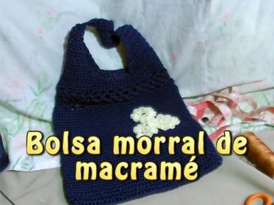 Bolsa morral de macramé |Creaciones y manualidades angeles