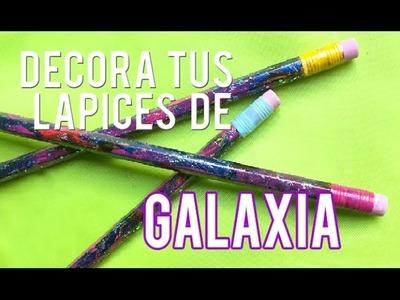 Decora tus Lápices de galaxia | Vuelta a clases | Manualidades fáciles! 手作りのペン
