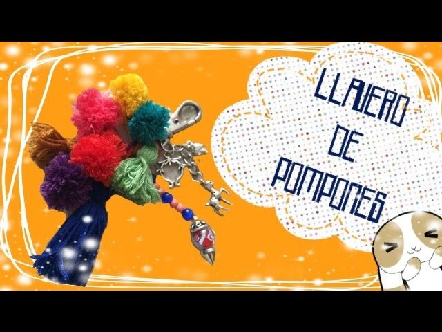DIY Llavero de Pompones | Orange Craft