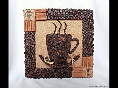 Ideas para manualidades con granos de café