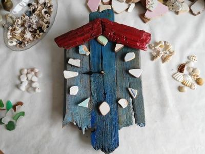 Manualidades con madera reciclada - Reloj artesanal de madera - Tips de felicidad