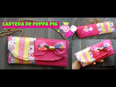 CARTERA DE PEPPAPIG SINCOSER.BOLSA PARA NIÑA DECORADA D LISTON.MANUALIDADES.HANDMADE.CRAFFTING.D.I.Y