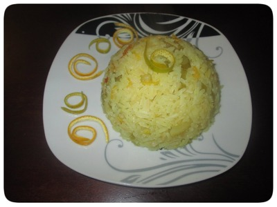 Cómo hacer arroz con naranja  | DIY | Cocina con Elena